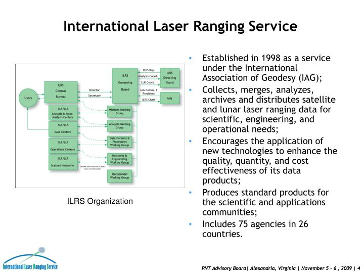 Established in 1998 as a service under the International Association of Geodesy (IAG);