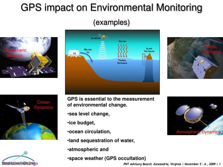 GPS impact on Environmental Monitoring