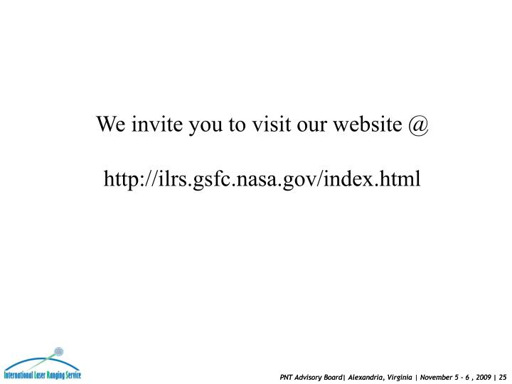 We invite you to visit our website @
