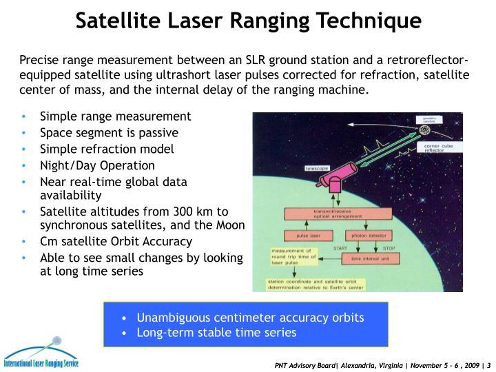 Satellite Laser Ranging Technique