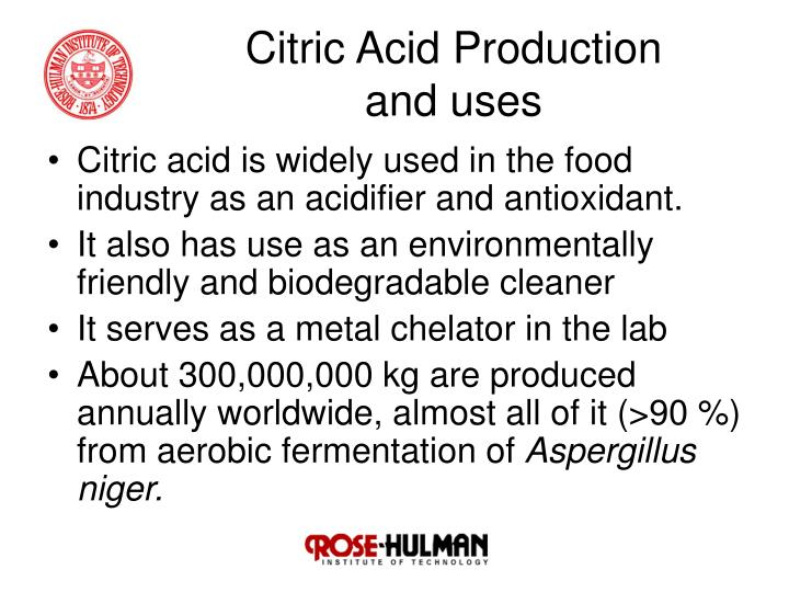 production of citric acid Engineering & process technology licensing of citric acid production plants.