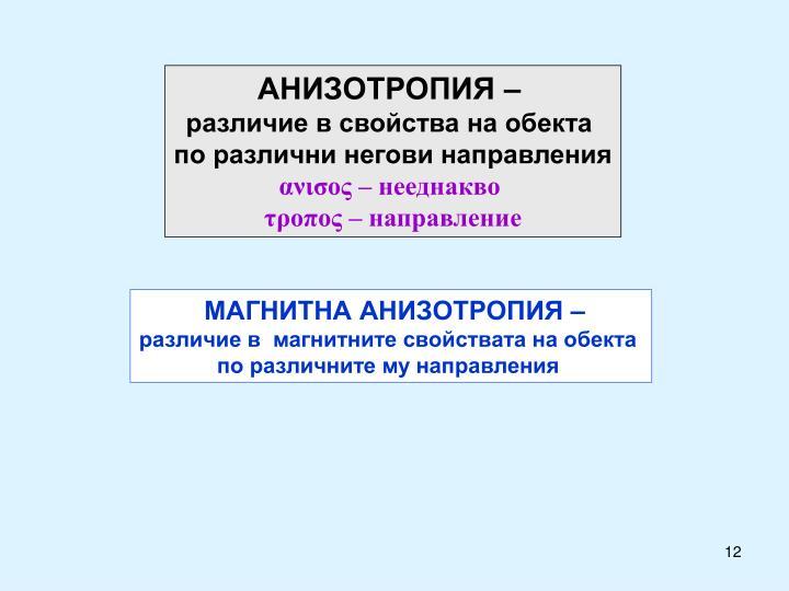 АНИЗОТРОПИЯ –