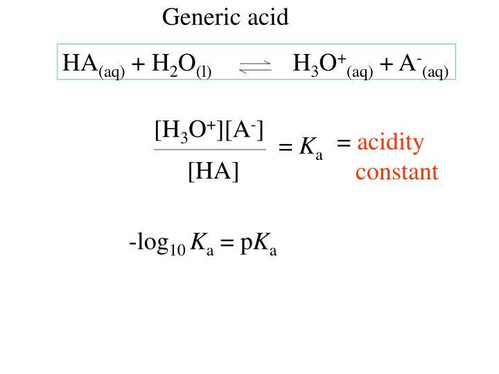 Generic acid