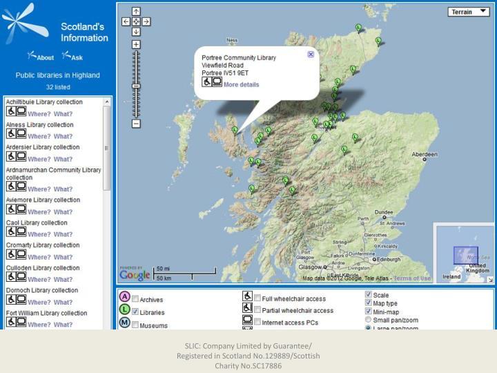 SLIC: Company Limited by Guarantee/ Registered in Scotland No.129889/Scottish Charity No.SC17886