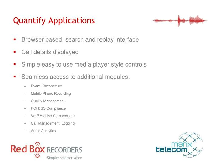 Quantify Applications