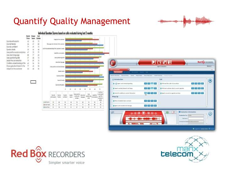 Quantify Quality Management