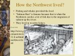 how the northwest lived