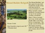 mound builder religion
