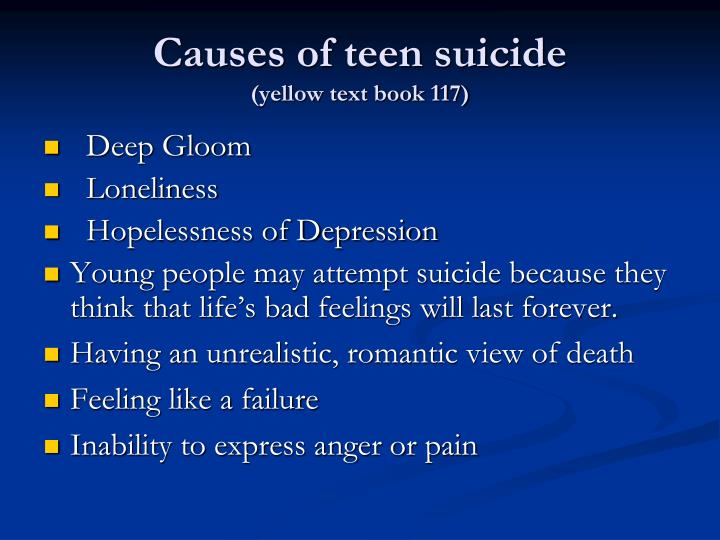 the shocking statistics of teen suicide causes and the root causes of the problem Suicide is the third leading cause of death among young people ages 15 to 24 so help your teen address negative by dr mercola shocking teen suicide statistics.