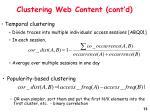 clustering web content cont d