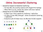 online incremental clustering