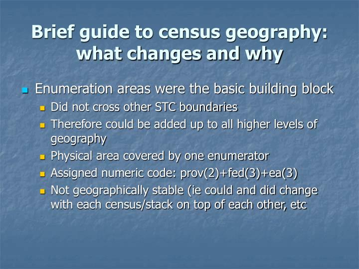 Brief guide to census geography: what changes and why