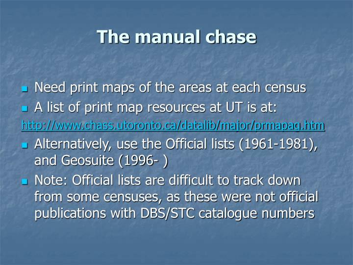 The manual chase