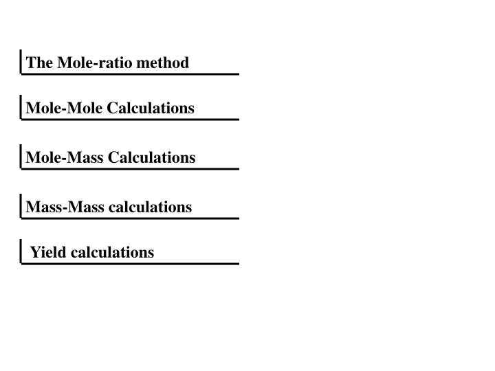 mole ratio method