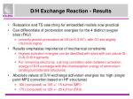 d h exchange reaction results