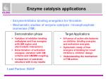 enzyme catalysis applications