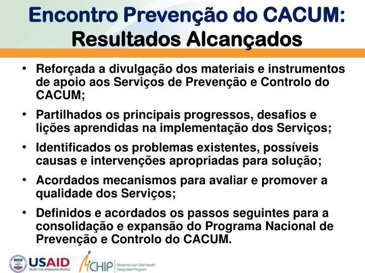 Encontro Prevenção do CACUM: