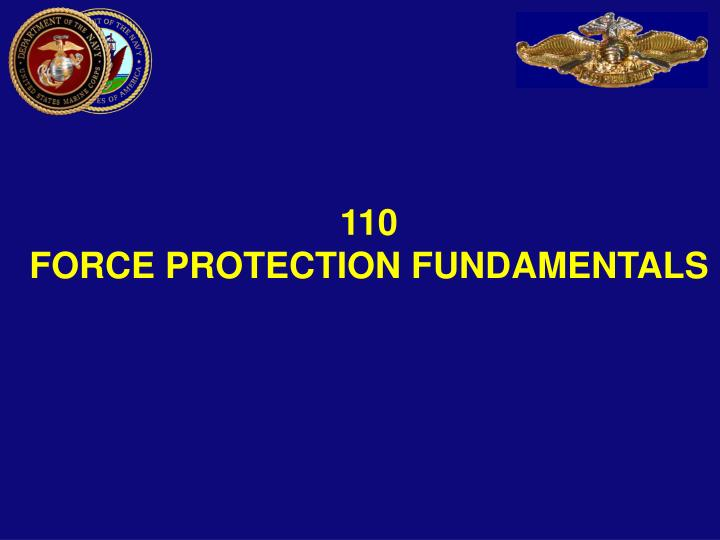 110 force protection fundamentals n.