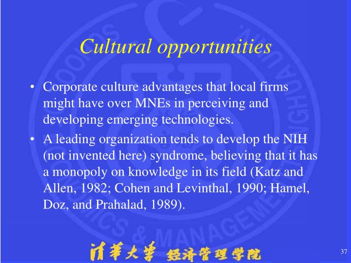 Cultural opportunities