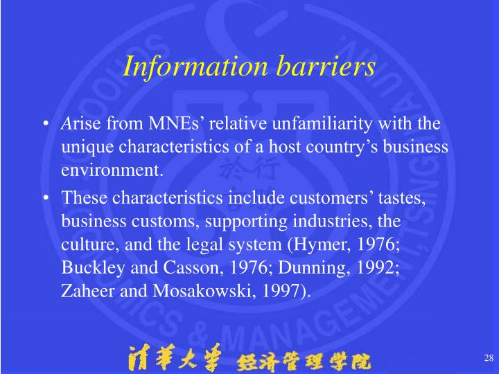 Information barriers