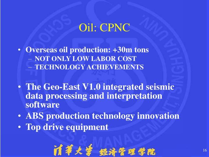 Oil: CPNC