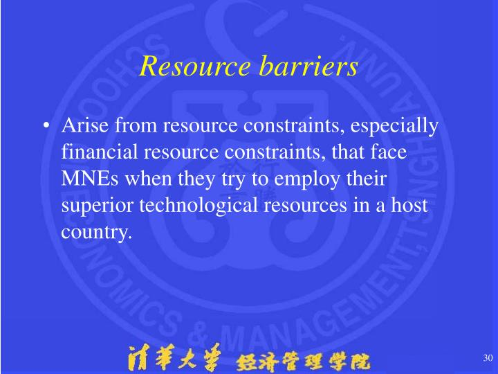 Resource barriers