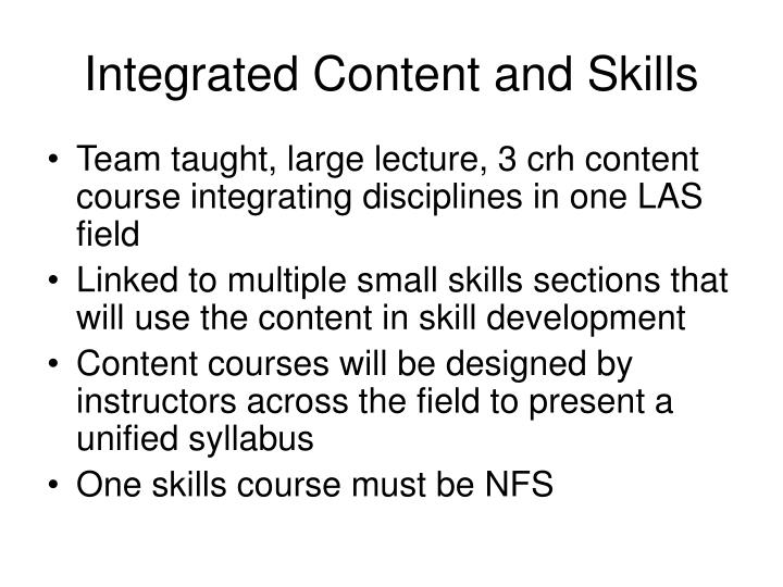 Integrated Content and Skills