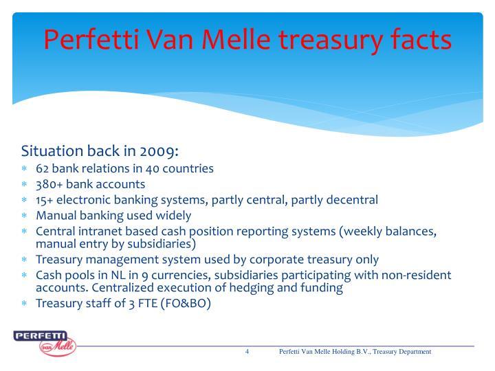 Perfetti Van Melle treasury facts