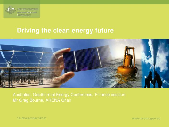 Driving the clean energy future