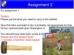 assignment 26