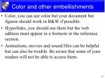 color and other embellishments1