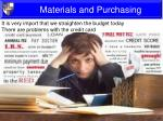 materials and purchasing4