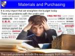 materials and purchasing5