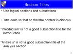 section titles1