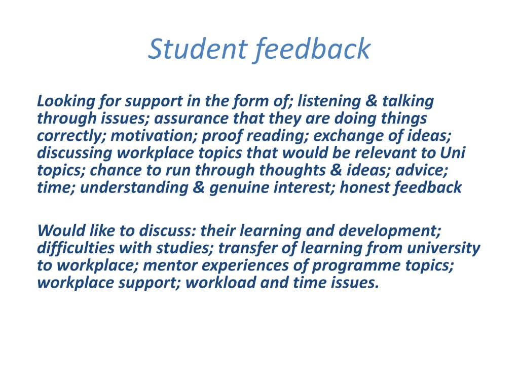 PPT - Workplace mentoring for student support and employer