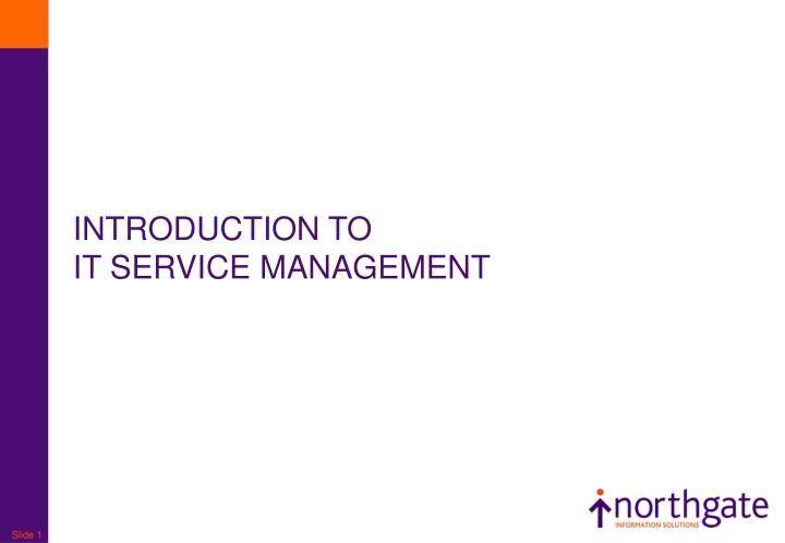 introduction to it service management n.