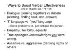 ways to boost verbal effectiveness end of chapter pp 171 181