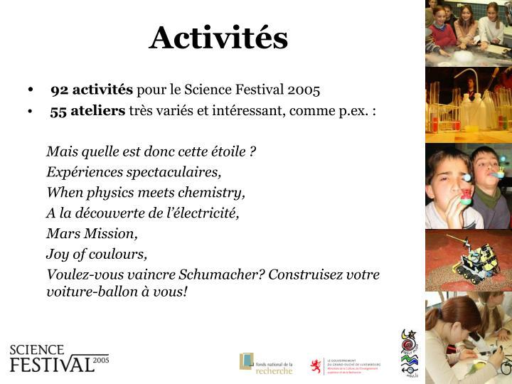92 activités