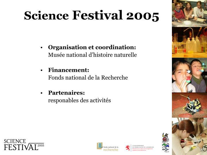 Organisation et coordination: