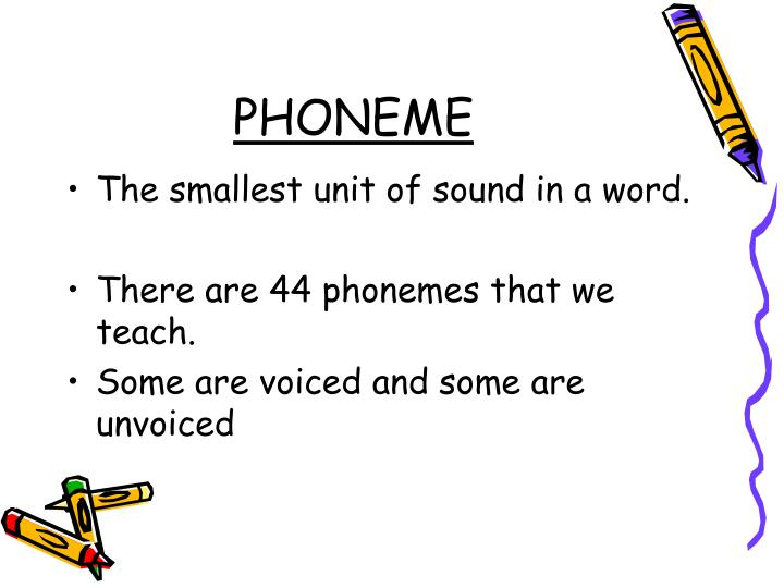 the smallest unit of sound