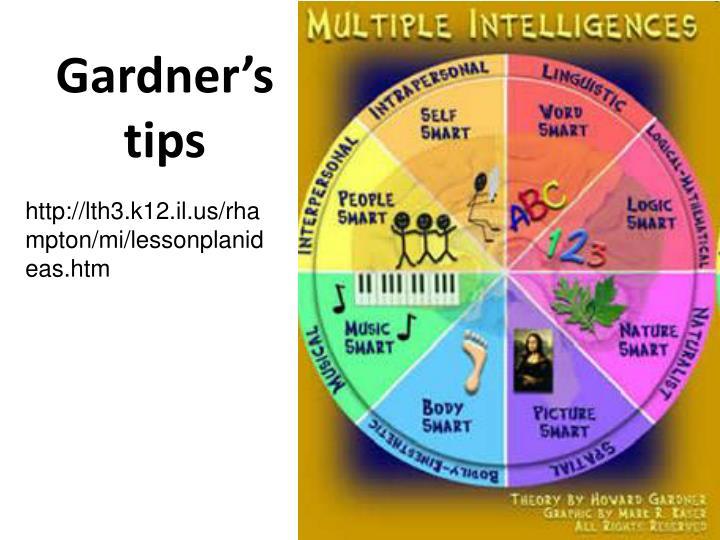 Gardner's tips