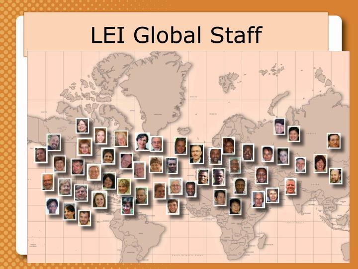 LEI Global Staff