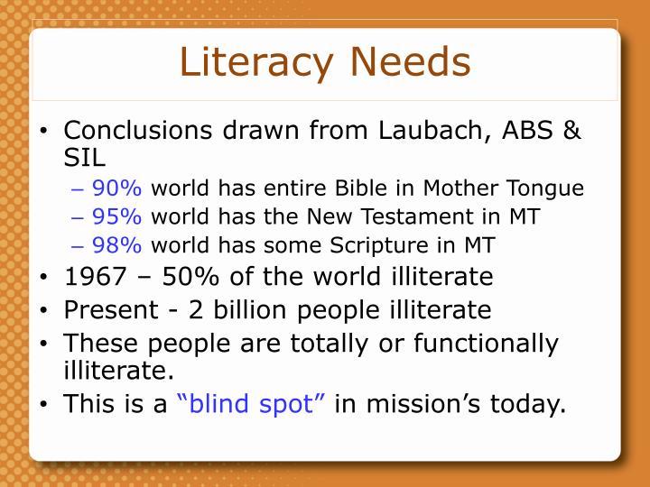 Literacy Needs