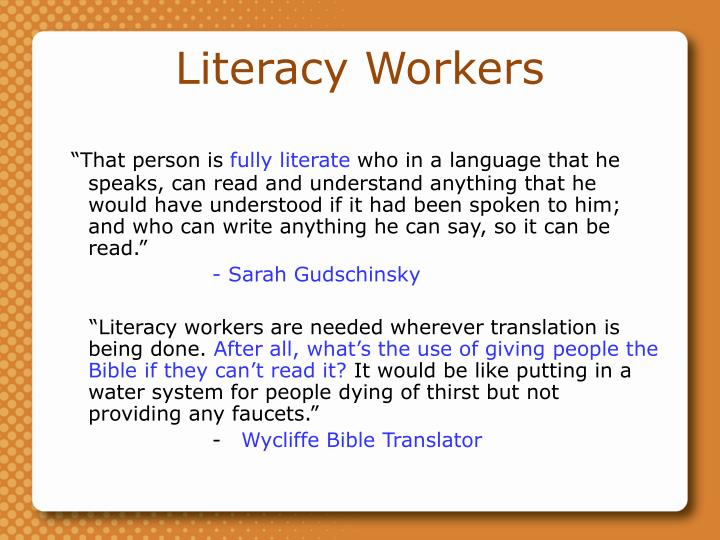 Literacy Workers