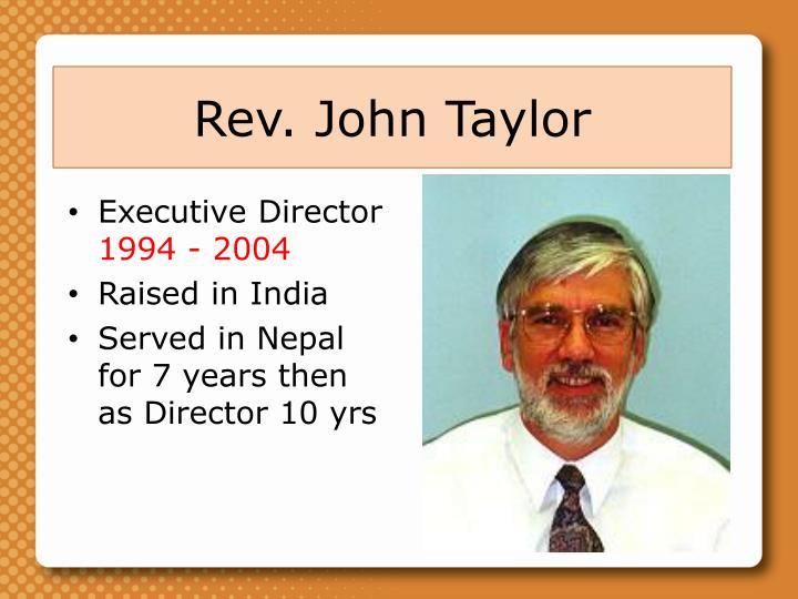 Rev. John Taylor