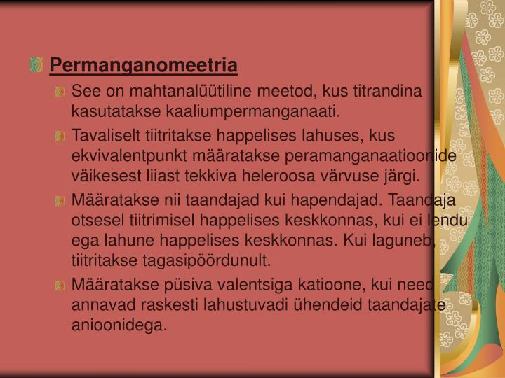 Permanganomeetria