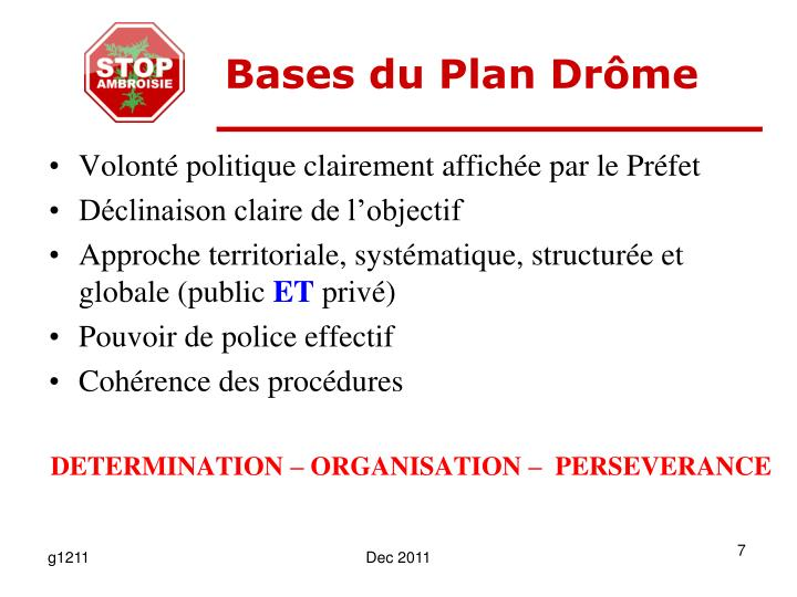 Bases du Plan Drôme