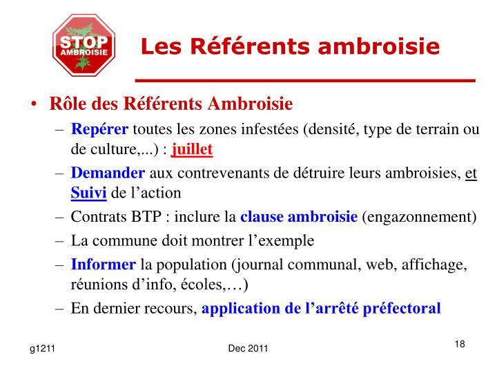 Les Référents ambroisie