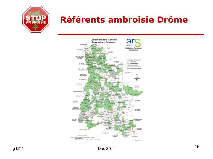 Référents ambroisie Drôme