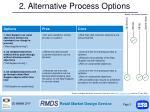 2 alternative process options